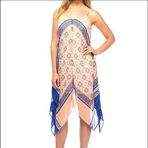 Luxology Summer Handkerchief Hem Printed Dress 14